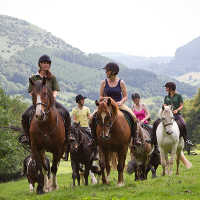 Riding and trekking in Lanthony