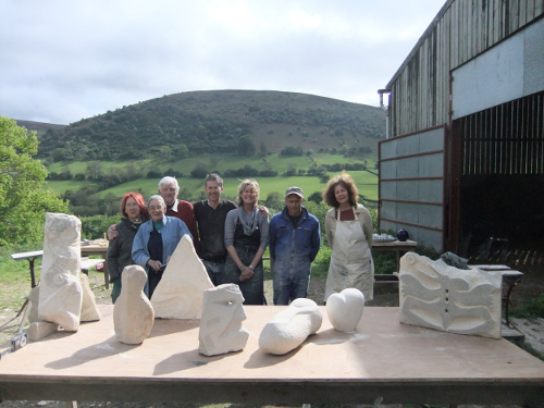 Sculpture group at Broadley Farm